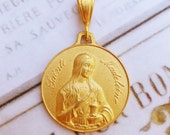 Medal - Saint Mary Magdalene 18K Gold Vermeil Medal - 29mm
