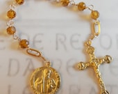 Chaplet to St Jude Thaddeus - 18K Gold Vermeil - special price