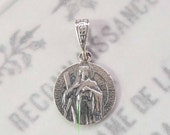 Medal - St Andrew the Apostle - Sterling Silver - 14.5mm