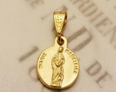 Medal - Marie Madeleine 18K Gold Vermeil - 11.5mm