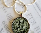 "St Paul Apostle Pendant with 18"" Sterling Silver Chain - 28mm"