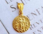 Medal - Saintes Maries 15.5mm - 18K Gold Vermeil
