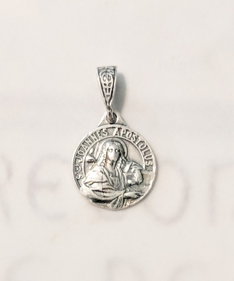 925 Sterling Silver Antiqued First Holy Communion Medal Charm Pendant 20mm x 15mm