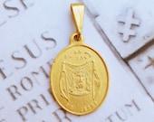 Medal - The Holy Face of Jesus Medal 19x22mm - 18K Gold Vermeil