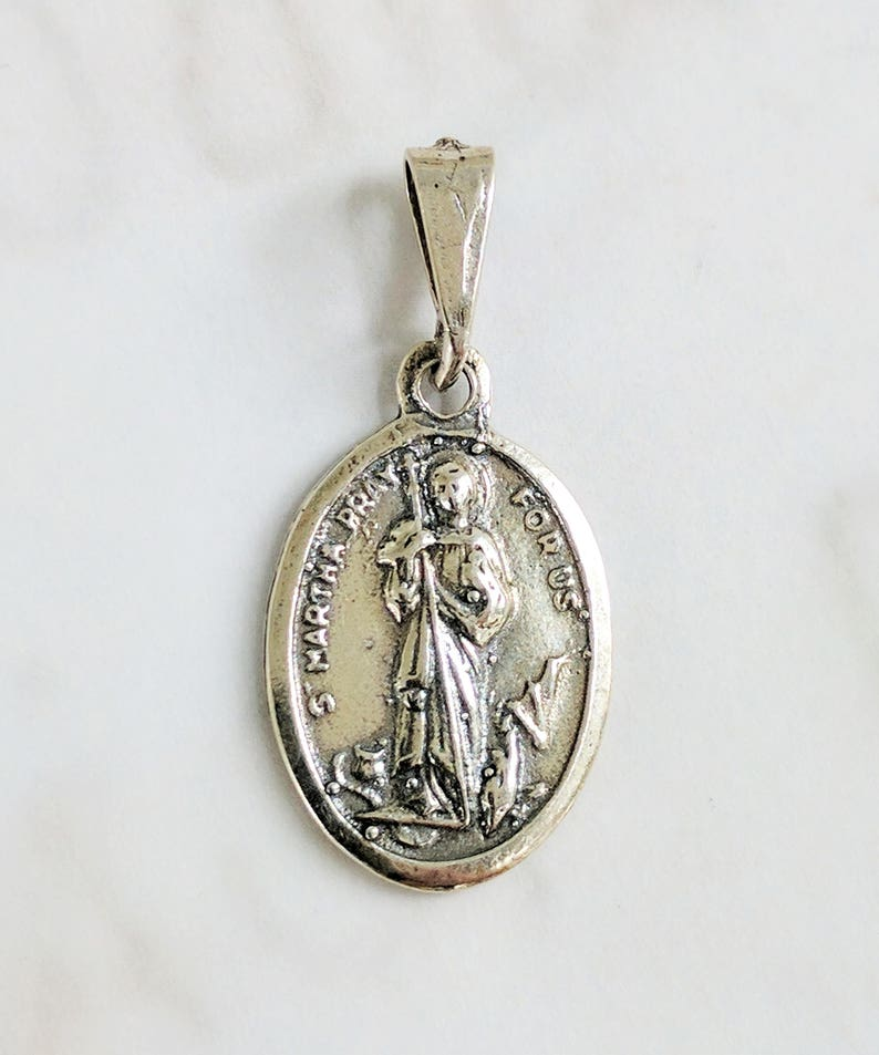 """18/"""" or 24 Inch Necklace /& St Martha of Bethany Pendant Charm Religious Holy"""