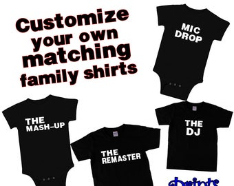 486ca9aae The Mic Drop Custom Matching Family Shirts Collection/Matching Father, Son,  Baby T-Shirts/Matching Family T-Shirts/Matching Family Shirts