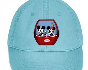 Disney Skyliner Mickey And Minnie Hat  Classic Mickey Mouse Baseball Hat   Skyliner Gondola Disney Vacation Adjustable Cap f96b26182