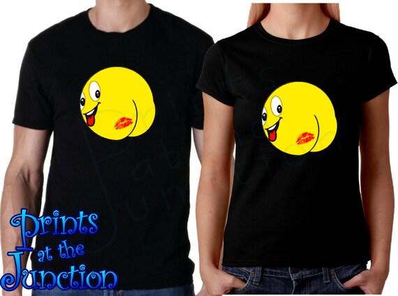 11c5b52ff Kiss Emoji Shirt/Butt Kiss Emoji T-Shirts/Funny Nude Emoji   Etsy