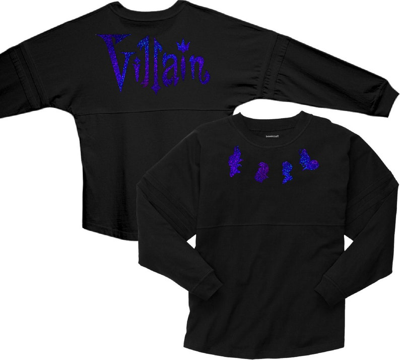 4d6ce1797 Disney Villains Jersey/ Evil Villains Spirit Shirts/ Blue   Etsy