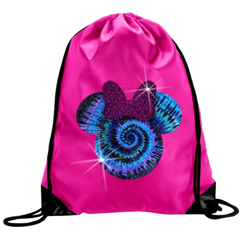 0c443428ff5 Minnie Mouse Tie Dye Glitter Backpack  Disney Minnie Mouse