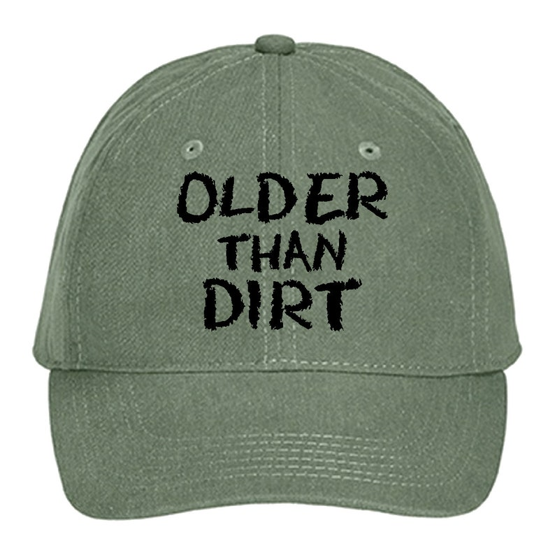 Birthday Hat Gift Older Than Dirt Funny Baseball