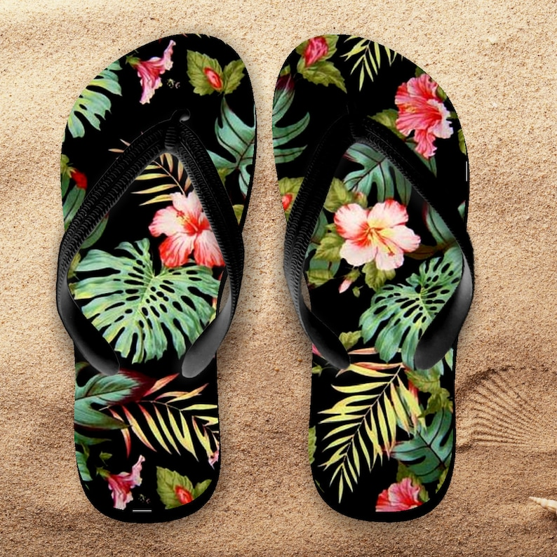e21a50cfa82a7 Hawaii Flip Flops  Hawaii Palms Tropical Flip Flops   Hawaii