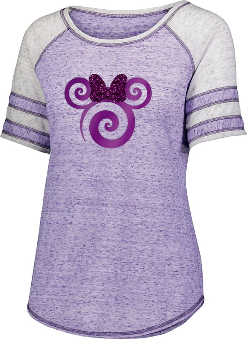 061ad1fd Disney Potion Purple Minnie Raglan Shirt/ Minnie Mouse Glitter   Etsy