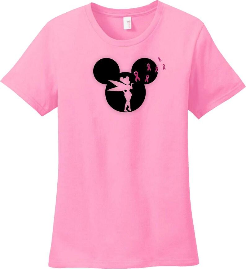 604338d63 Disney Breast Cancer Awareness Shirt/Mickey Tinkerbell | Etsy