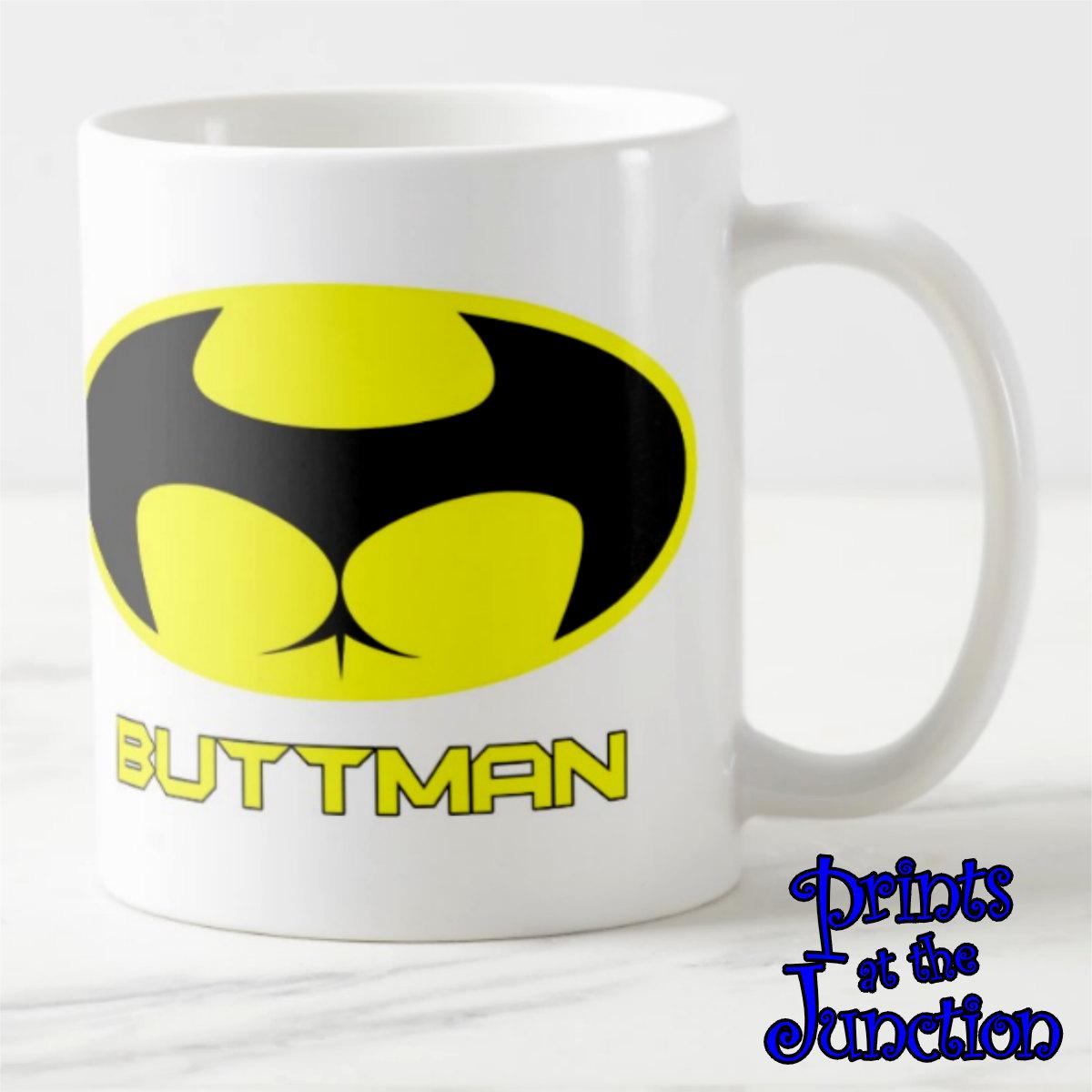 Buttman Vacation funny coffee mug gift/buttman/batman ceramic coffee mug/funny batman coffee  lover mug/superhero coffee mug/gifts for him