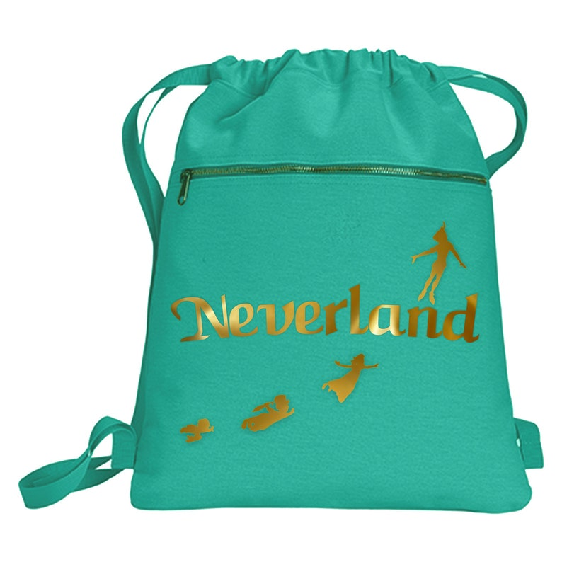 Disney Neverland Backpack  Peter Pan Metallic Gold Vacation