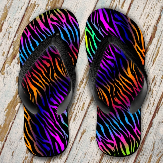 c6c05b3e74c4 Zebra Flip Flops  Animal Print Flip Flops  Tie Dye Flip Flops