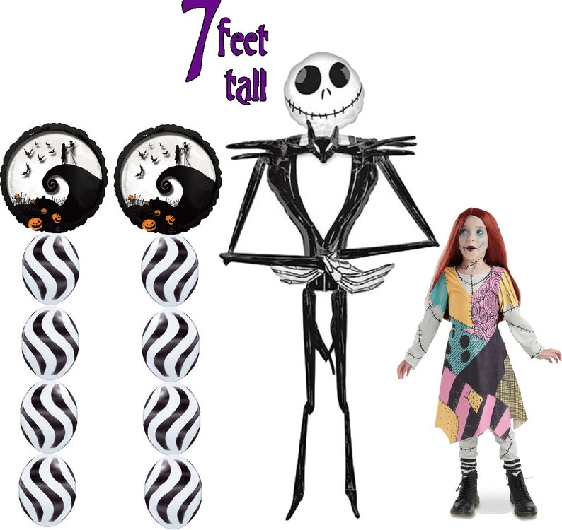 Nightmare Before Christmas Halloween Balloons Jack Etsy