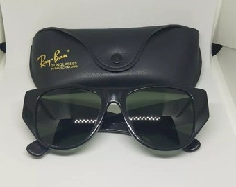 VINTAGE RARE Ray-ban B L BL Caballero Ebony Black Sunglasses 7c46d078aede