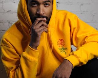 Men's Hoodie • Men's Rose Hoodie • Men's Clothing • Yellow Hoodie • Tumblr Sweatshirt • g185