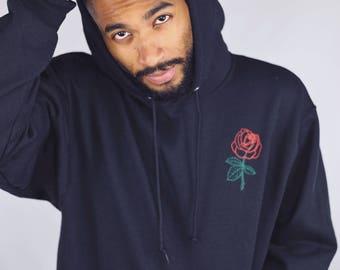 59e0d99a85 Men's Rose Hoodie • Mens Hoodie Men's Clothing • Men's Hoodie • Tumblr  Hoodie • Men's Hooded Sweatshirt