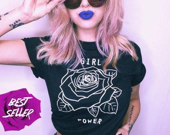 0b7b3d37ff3f6 Girl Power Shirt Feminist Shirt Women s Clothing Feminism Tshirt Women s  March Protest Shirts Gifts For Her