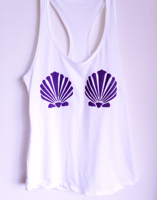 fe10c4376cda3 Mermaid Shell Shirt Mermaid Tank Top Women s Clothing
