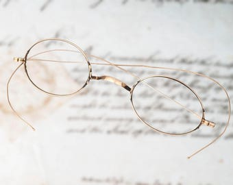 d2b3d6bf3f02 Antique 10k solid gold eyeglasses spectacles circa 1890 s