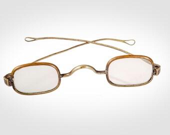 77df2cdd430 Ben Franklin style spectacles eyeglasses nickel brass pre Civil War era
