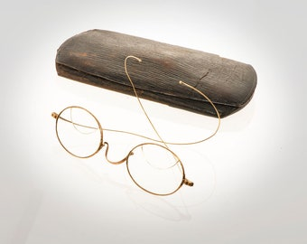 5aeda52f6a Antique 10k solid gold eyeglasses spectacles circa 1890 s w case