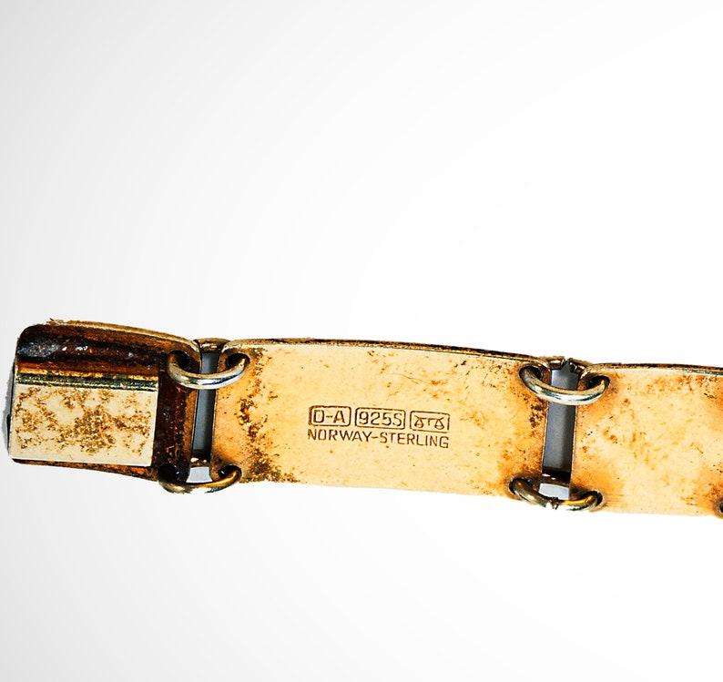 David Anderson guilloche enameled gilt sterling bracelet Norway
