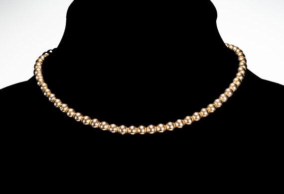 Antique 14k gold balls choker necklace