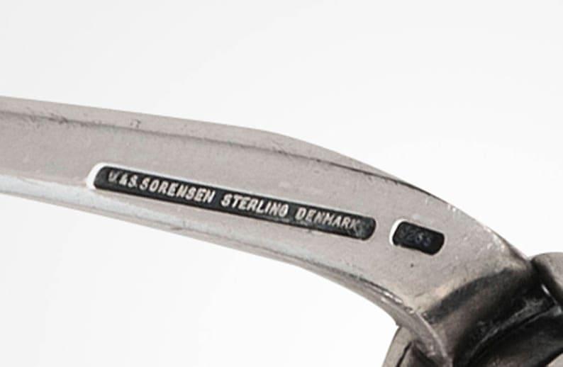 heavy sterling silver tongs W /& S Sorensen Denmark