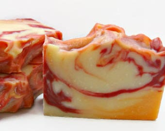 Cranberry Orange Soap Bar, Vegan Soap, Fall Scent, Soap with Shea Butter