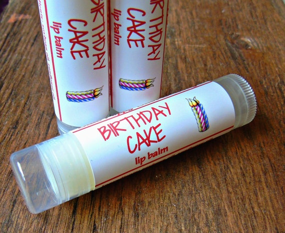 Birthday Cake Lip Balm Party Favor Childrens