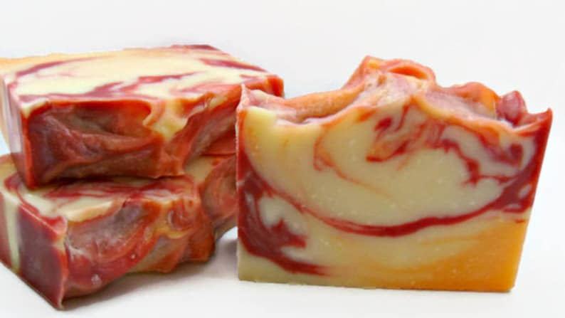 Cranberry Orange Soap Bar Vegan Soap Fall Scent Soap with image 0