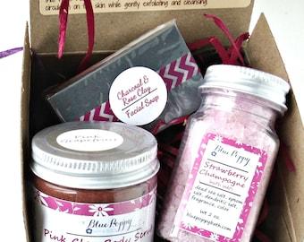 Mini Spa Gift Set, Bridesmaid Gift, Spa Kit, Bridal Party, Beauty Gift for Her, Bath Sample Pack, Mini Spa Box, Hostess Gift Box, Spa Kit
