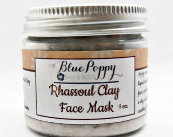 Rhassoul Clay Face Mask, Moroccan Clay, Cleansing Facial Treatment For Dry Skin, Sensitive Skin, Natural Cleanser for Face