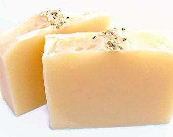 Hemp Soap, Handmade Soap Bar, Cedar Sage and Coriander, Shea Butter Soap, Vegan Bath Soap, Vegan Gift, Cold Process Bar Soap