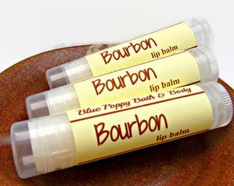 Bourbon Lip Balm, Groomsmen Gift, Stocking Filler, Gift for Dad, Mens Lip Balm, Bourbon Gift, Whisky Flavor