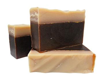 Beer Soap, Sweet Bourbon Cream, Handmade Cold Process Soap Palm Free