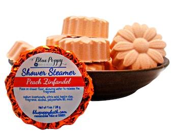 Peach Zinfandel Shower Steamer 3 Pack, Wine Lover Gift