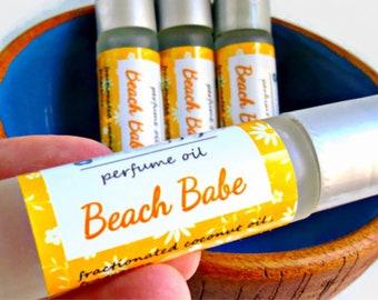 Beach Babe Perfume - Tropical Oil, Ocean, Sand and Salty Air, Summer Fragrance