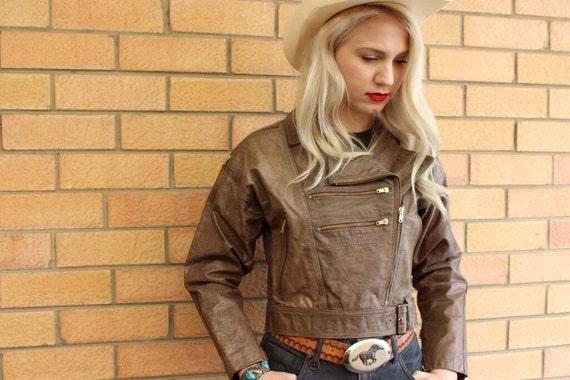 Leather Jacket For Her - Leather Biker Jacket - Le