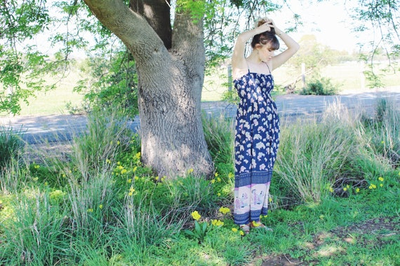 Bohemian Womens Maxi Dresses - Boho Hippie Gypsy M