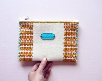 Tropical Bird Plaid Purse