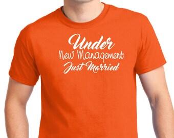 Under New Management-t-shirt - Funny T-Shirt- Bride and Groom T-Shirt - Custom T-Shirt-tee gift- wedding gift-