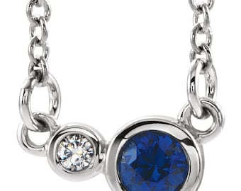 Satellites Birthstone™ Necklace - Sterling Silver & Diamond
