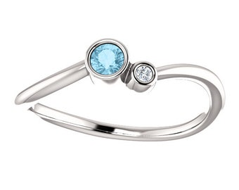 Satellites Birthstone™ Ring - Sterling Silver & Diamond