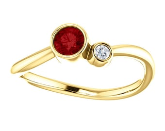 Satellites Birthstone™ Ring - 14kt Solid Gold & Diamond